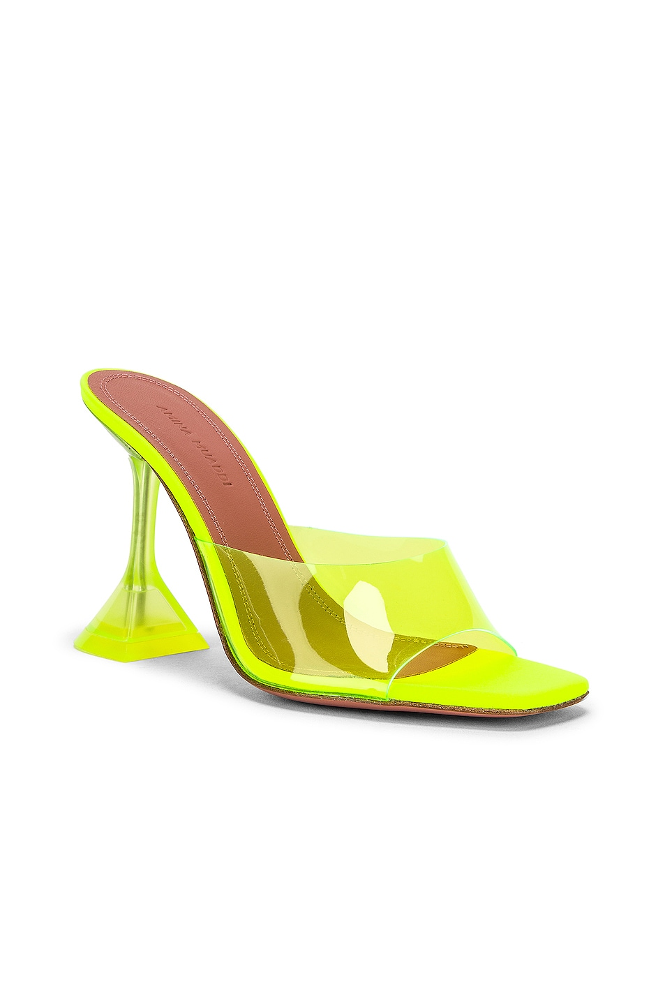 Image 2 of AMINA MUADDI Lupita Glass Sandal in Yellow Fluo