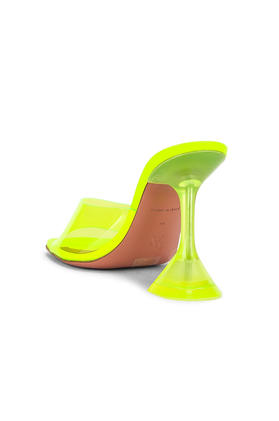 Image 3 of AMINA MUADDI Lupita Glass Sandal in Yellow Fluo