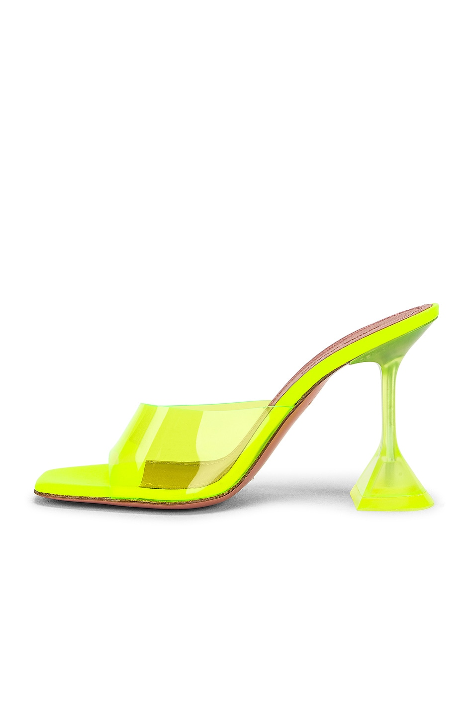 Image 5 of AMINA MUADDI Lupita Glass Sandal in Yellow Fluo