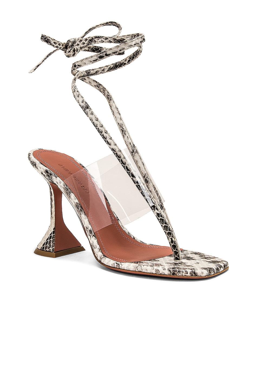 Image 2 of AMINA MUADDI Zula Leather Sandal in Natural