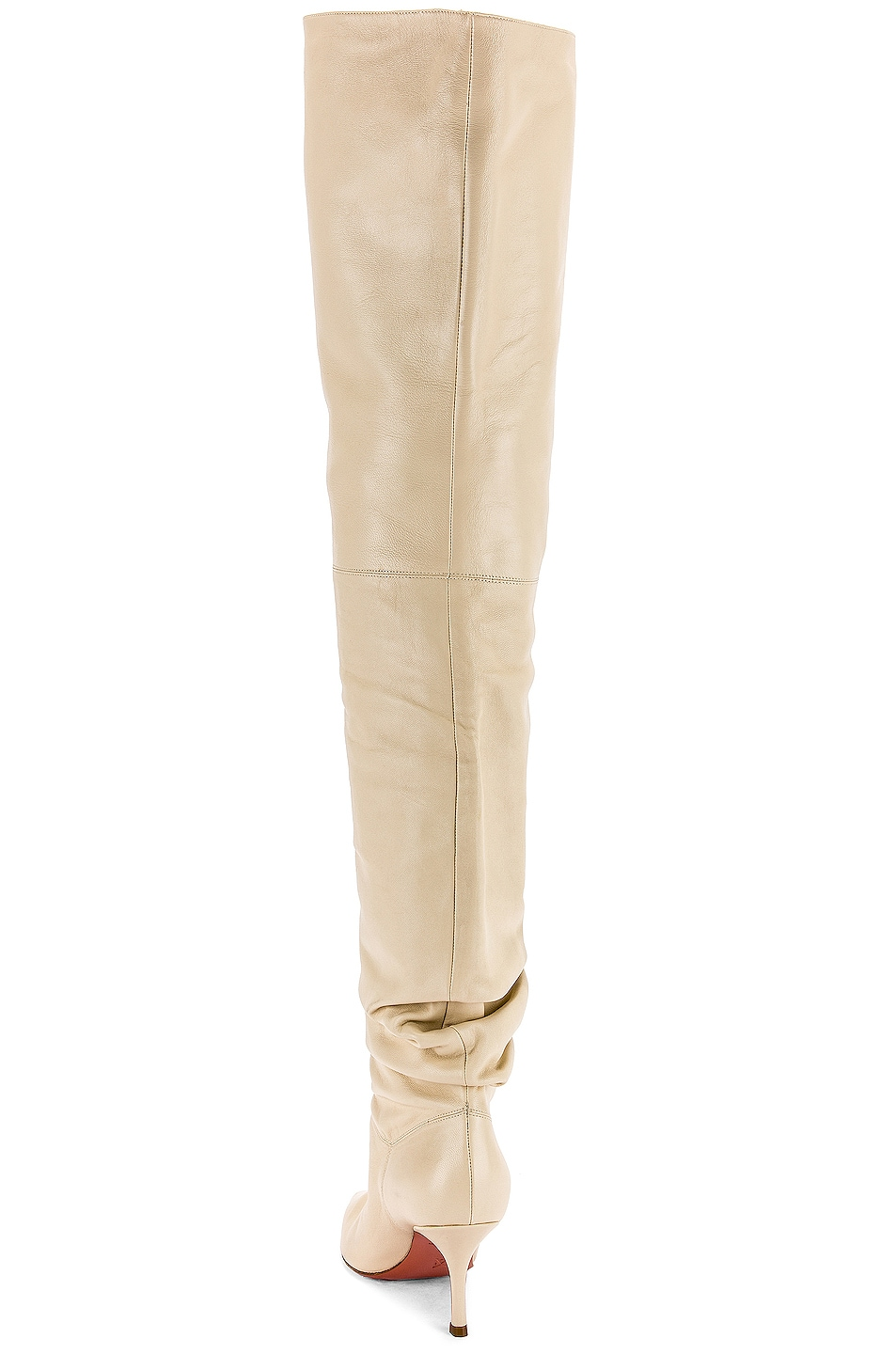 Image 3 of AMINA MUADDI Barbara 70 Boot in Ivory Nappa