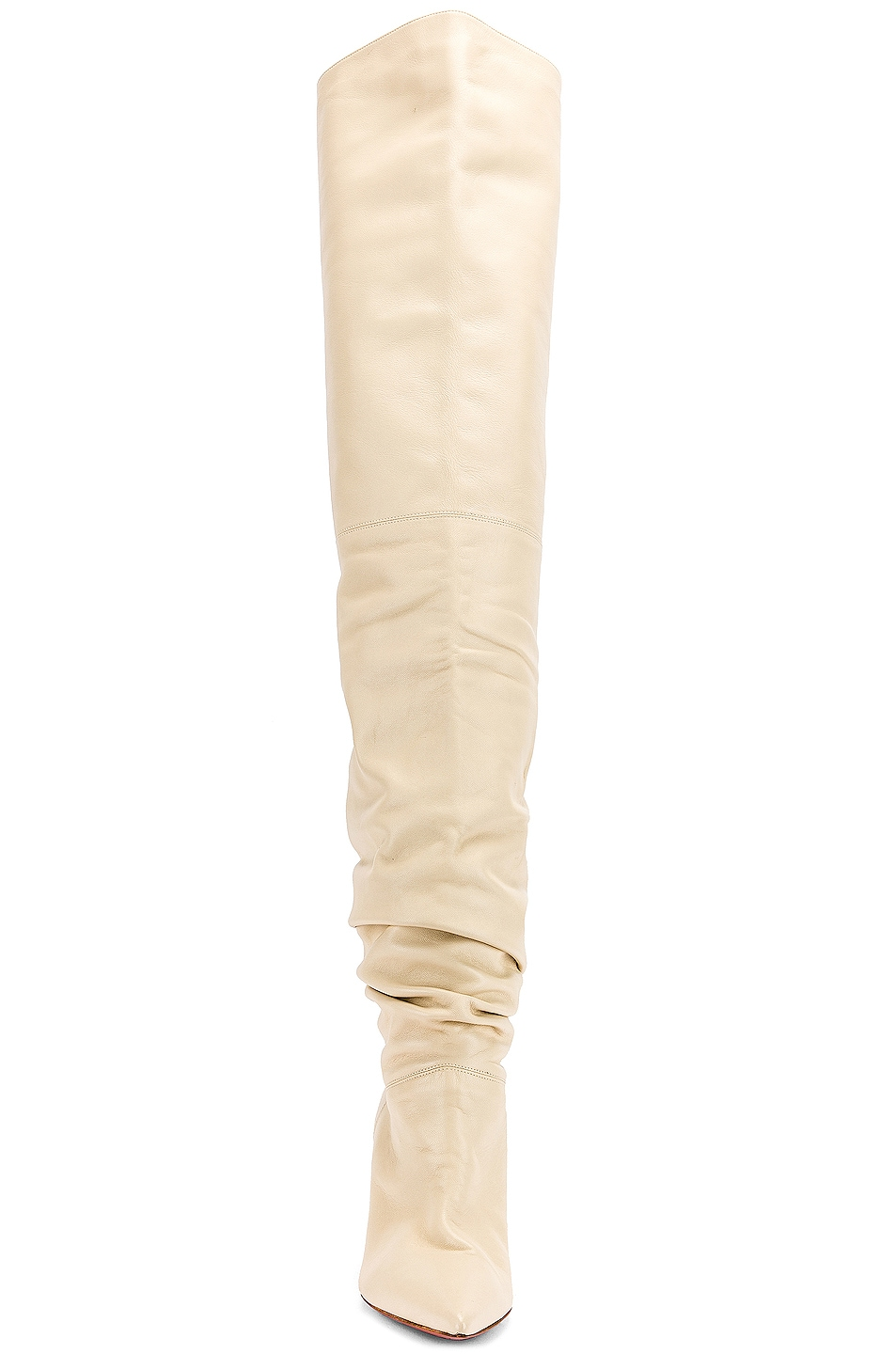 Image 4 of AMINA MUADDI Barbara 70 Boot in Ivory Nappa