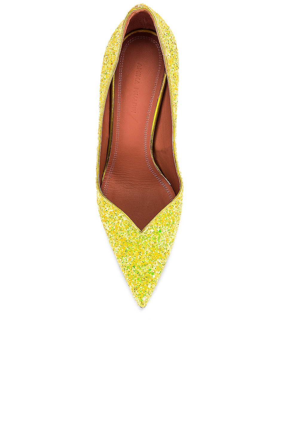 Image 4 of AMINA MUADDI Giorgia Pump in Lemon Glitter
