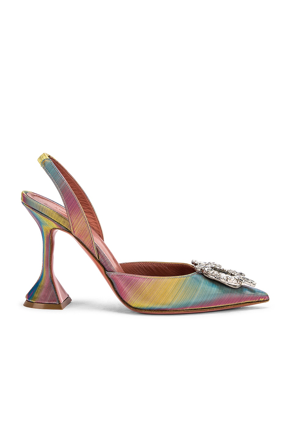 Image 1 of AMINA MUADDI Begum Sling Heel in Shadow Leather Multicolor