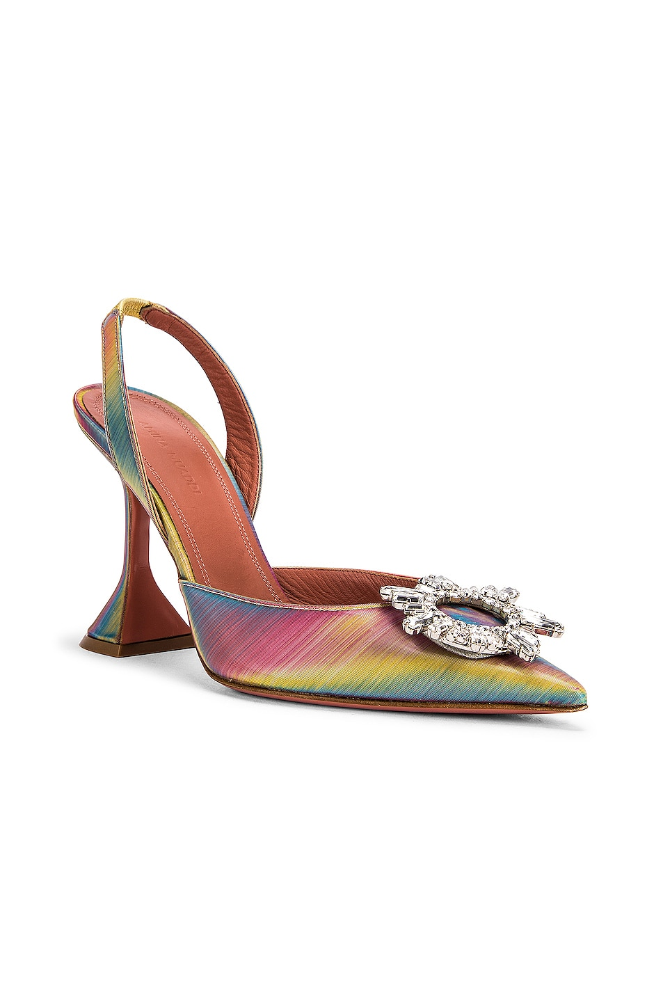 Image 2 of AMINA MUADDI Begum Sling Heel in Shadow Leather Multicolor