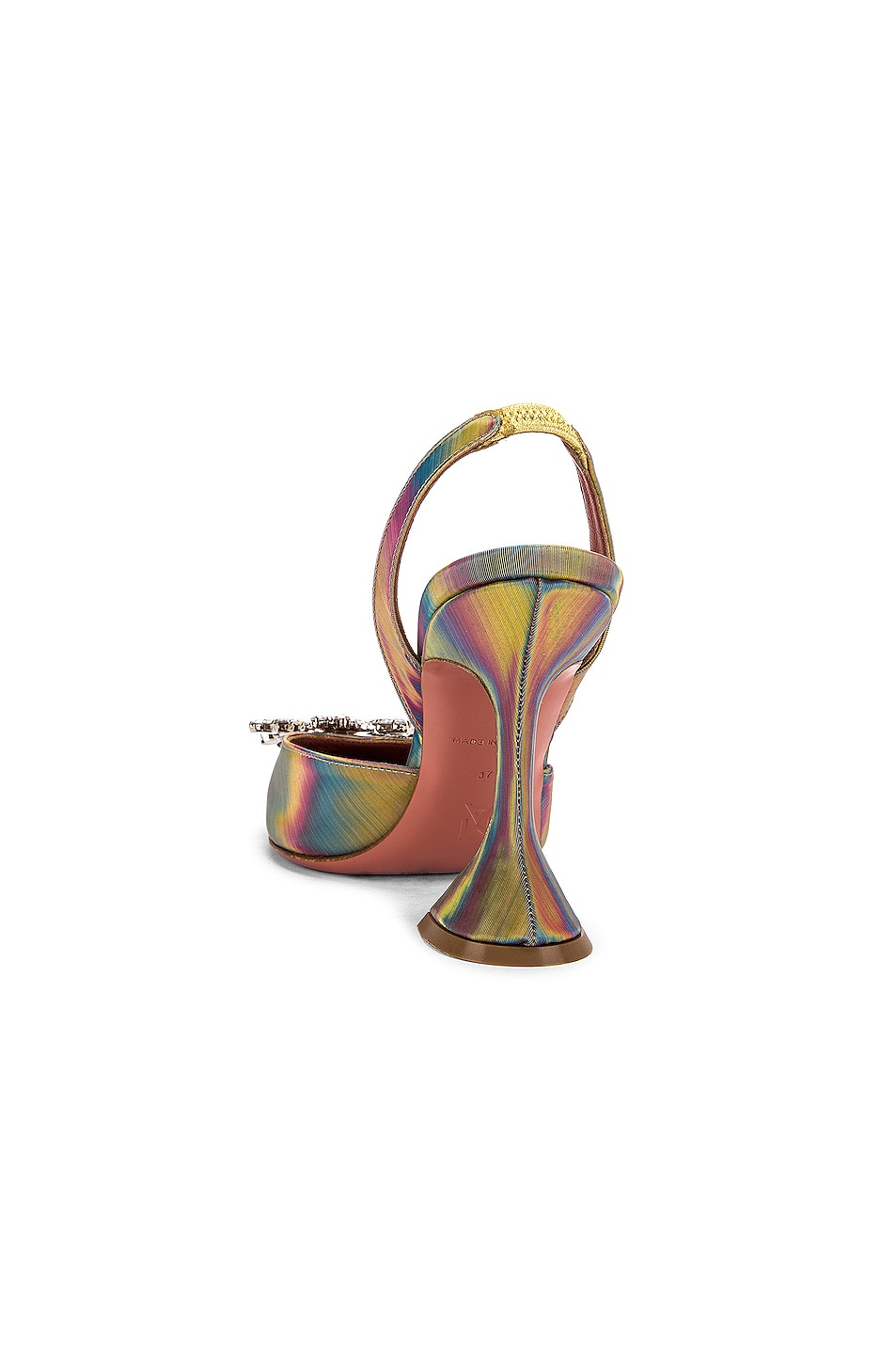 Image 3 of AMINA MUADDI Begum Sling Heel in Shadow Leather Multicolor