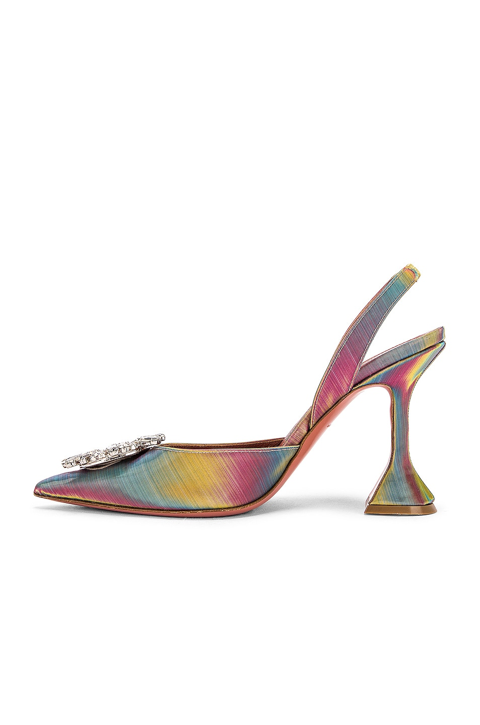 Image 5 of AMINA MUADDI Begum Sling Heel in Shadow Leather Multicolor