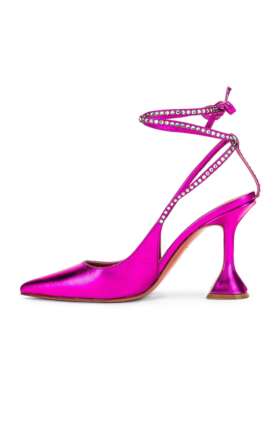 Image 5 of AMINA MUADDI Karma Pump in Fuchsia Metal Nappa