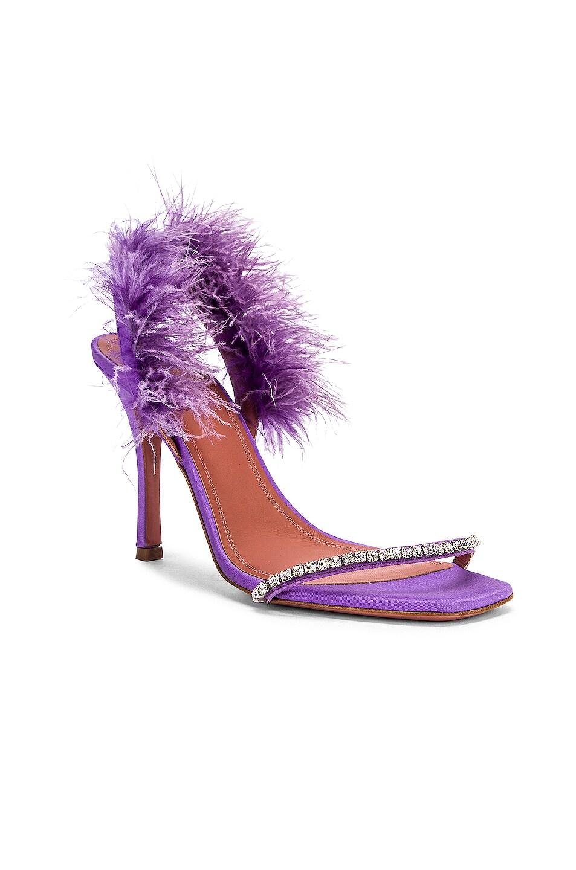 Image 2 of AMINA MUADDI Adwoa Crystal Sandal in Lilac Satin
