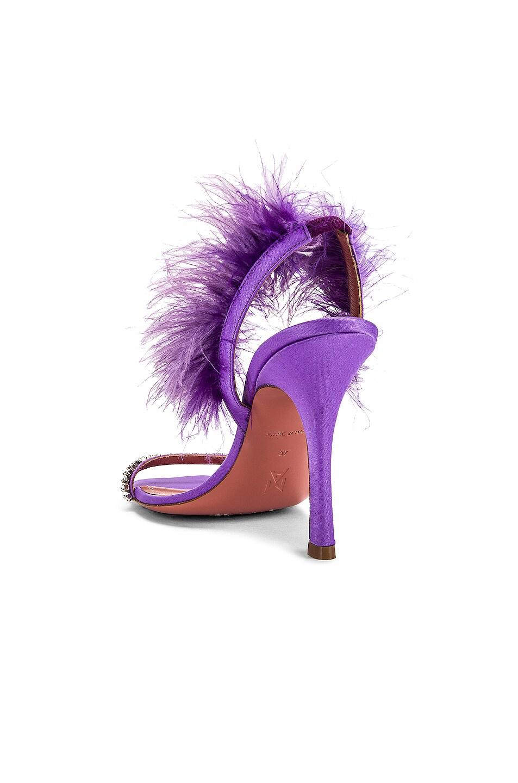 Image 3 of AMINA MUADDI Adwoa Crystal Sandal in Lilac Satin