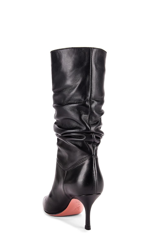 Image 3 of AMINA MUADDI Ida 70 Boot in Black Nappa