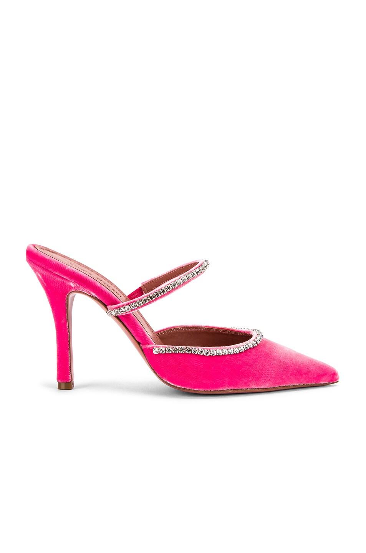 Image 1 of AMINA MUADDI Gilda Mule in Pink Velvet