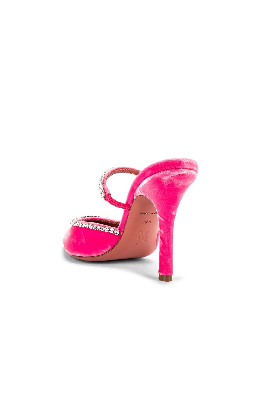 Image 3 of AMINA MUADDI Gilda Mule in Pink Velvet