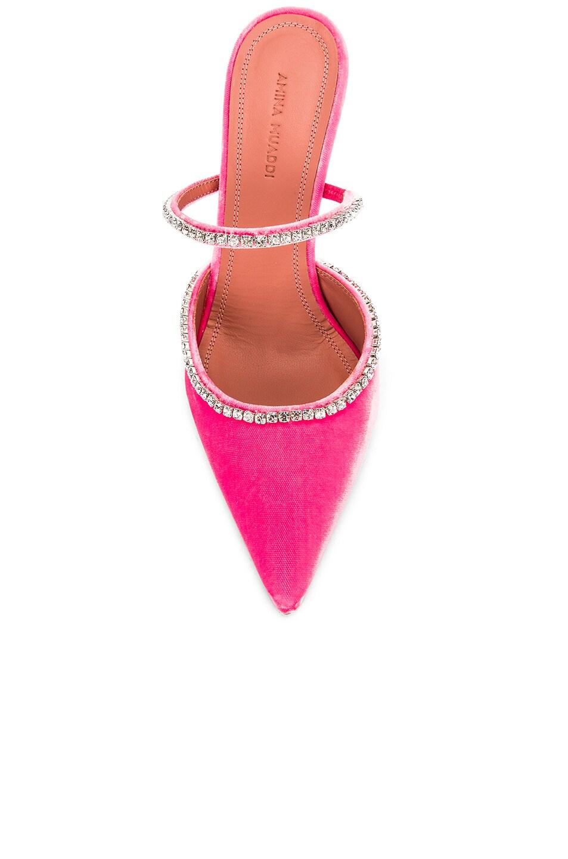 Image 4 of AMINA MUADDI Gilda Mule in Pink Velvet