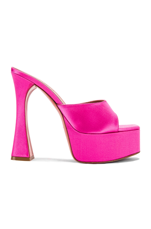 Image 1 of AMINA MUADDI Dalida Satin Sandal in Pink