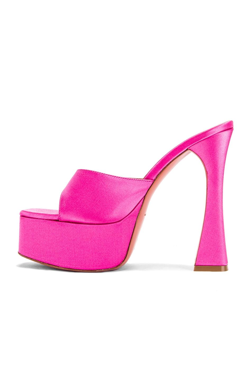 Image 5 of AMINA MUADDI Dalida Satin Sandal in Pink
