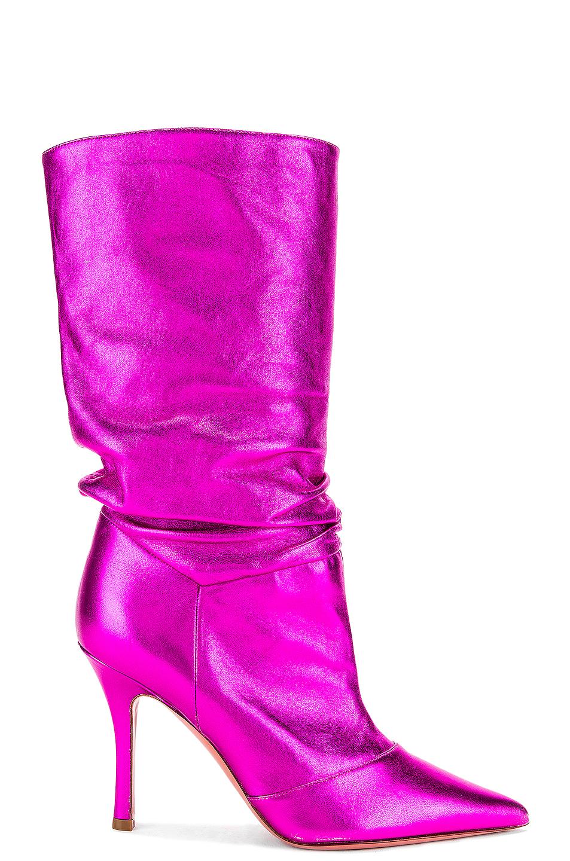 Image 1 of AMINA MUADDI Ida Napa Boot in Metal Fuchsia