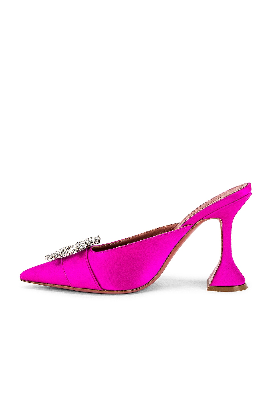 Image 5 of AMINA MUADDI Begum Satin Mule in Fuchsia