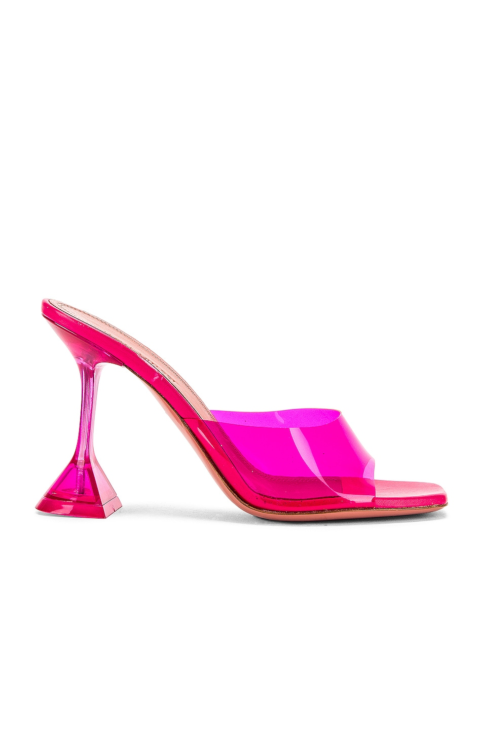 Image 1 of AMINA MUADDI Lupita Glass Heel in Pink