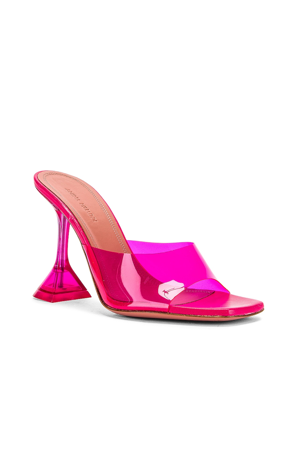 Image 2 of AMINA MUADDI Lupita Glass Heel in Pink