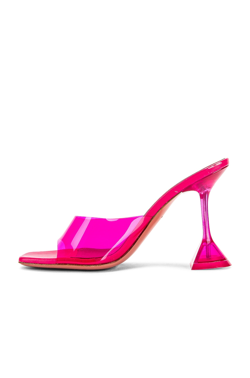 Image 5 of AMINA MUADDI Lupita Glass Heel in Pink