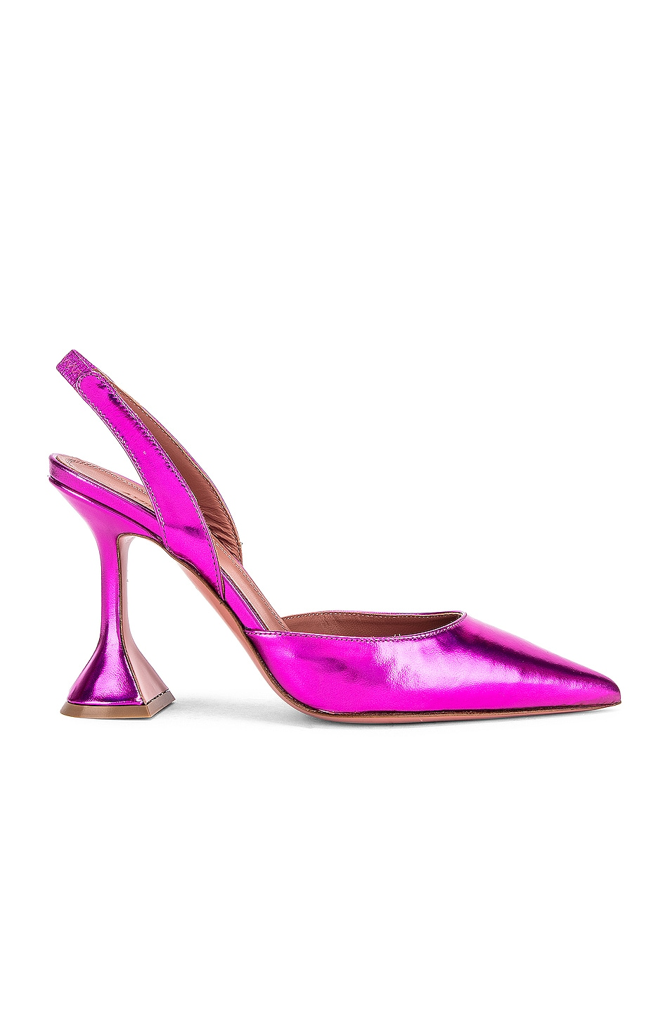 Image 1 of AMINA MUADDI Holli Slingback in Metal Fuchsia