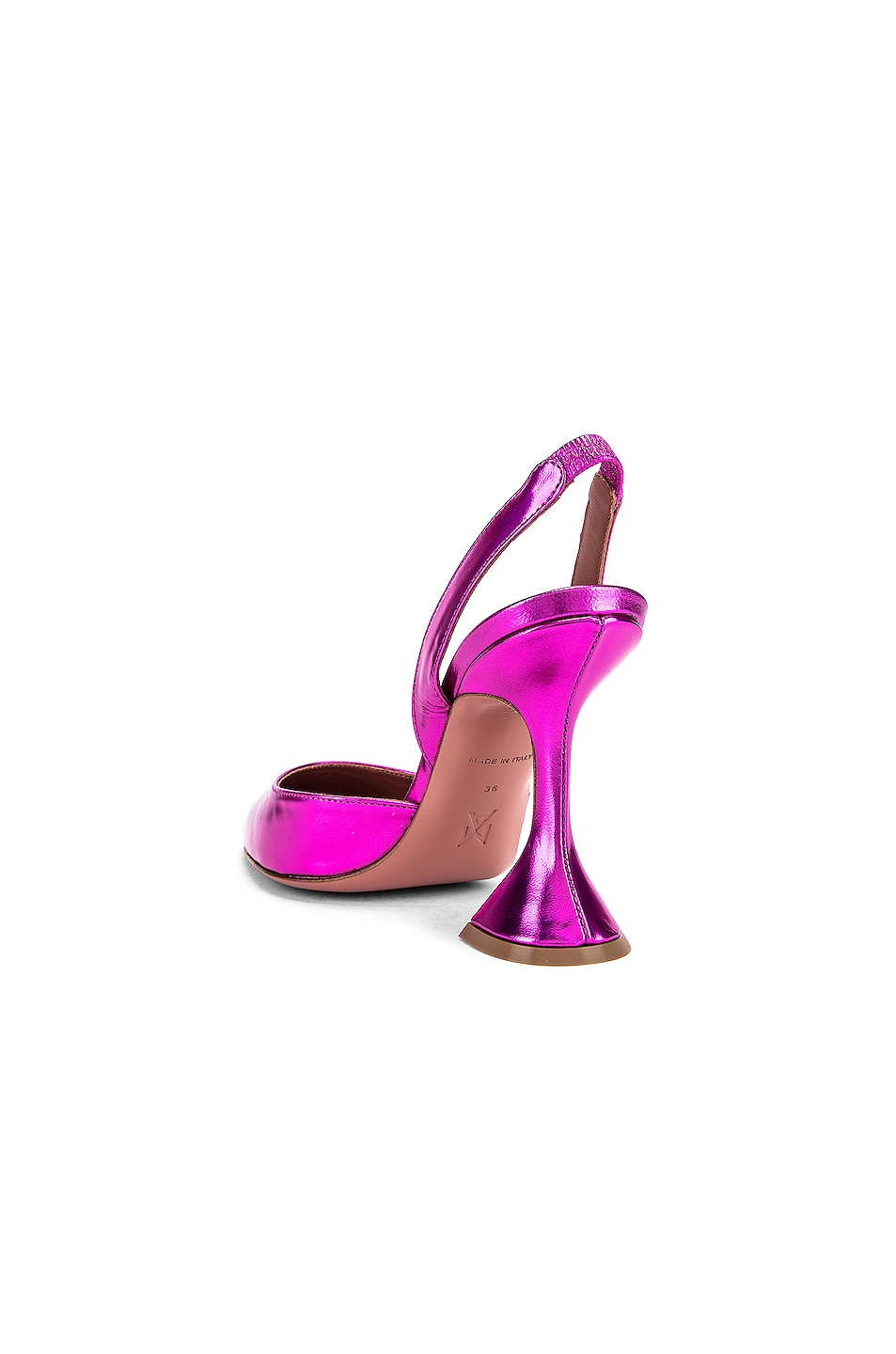 Image 3 of AMINA MUADDI Holli Slingback in Metal Fuchsia
