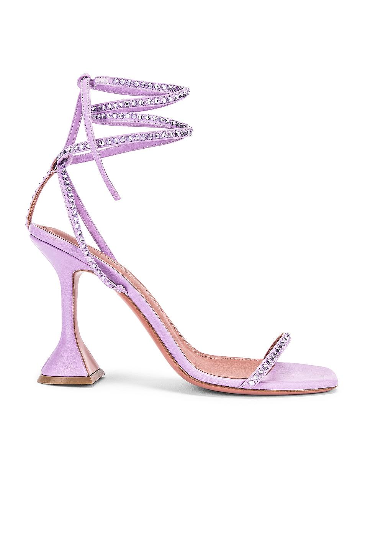 Image 1 of AMINA MUADDI Vita Crystal Sandal in Unicorn