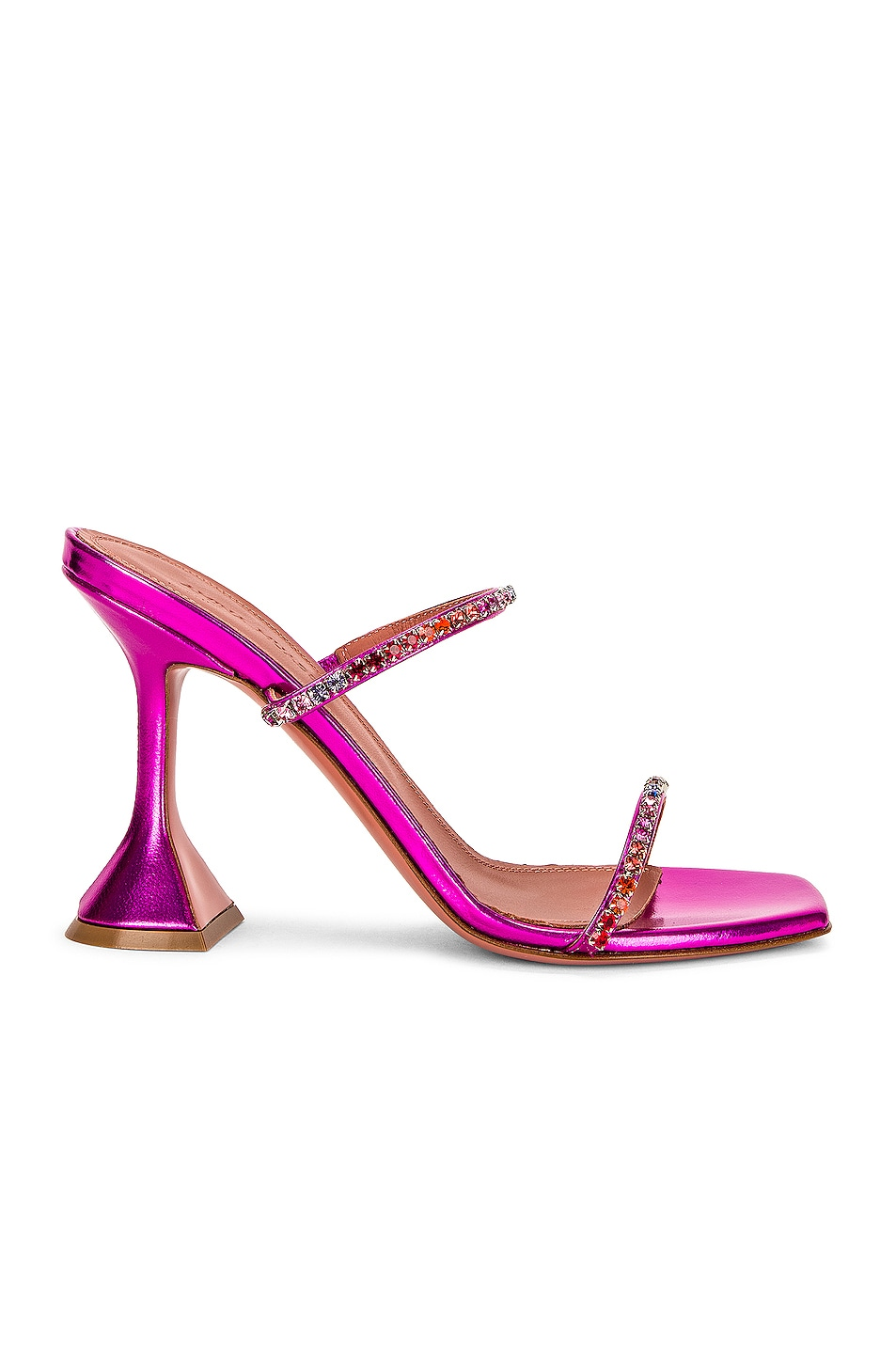 Image 1 of AMINA MUADDI Gilda Slipper in Fuchsia Hologram & Sunset Rainbow