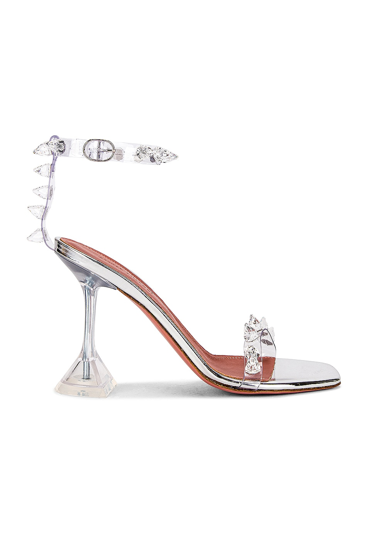 Image 1 of AMINA MUADDI Julia Glass Sandal in Transparent
