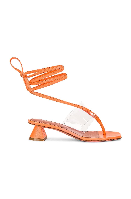 Image 1 of AMINA MUADDI Zula 40 Sandal in Coral