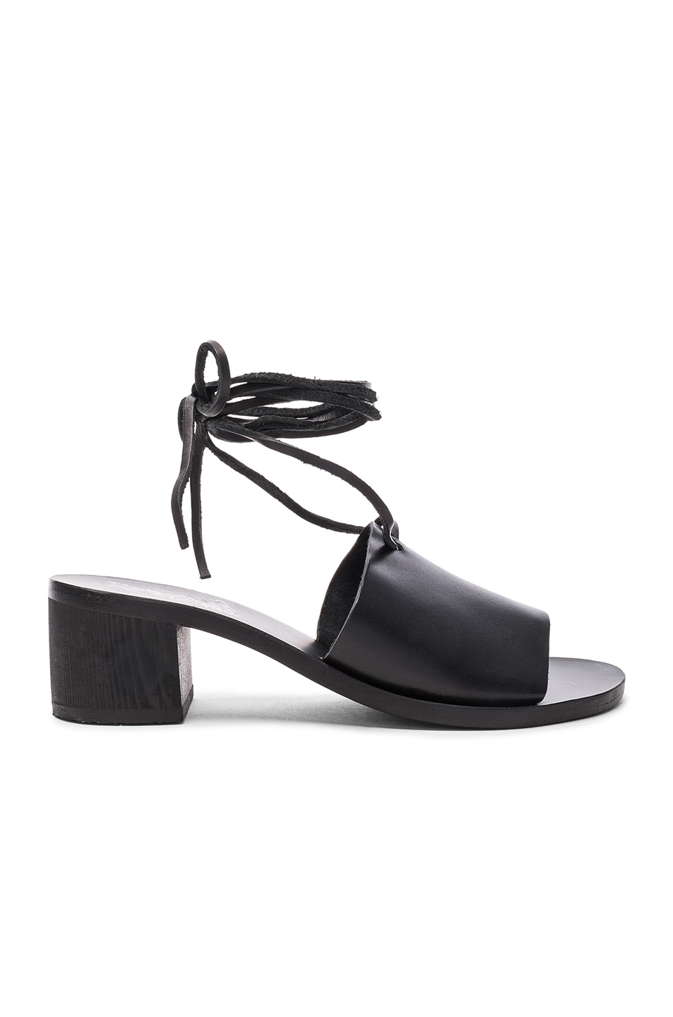 Image 1 of Ancient Greek Sandals Leather Christina Heels in Black