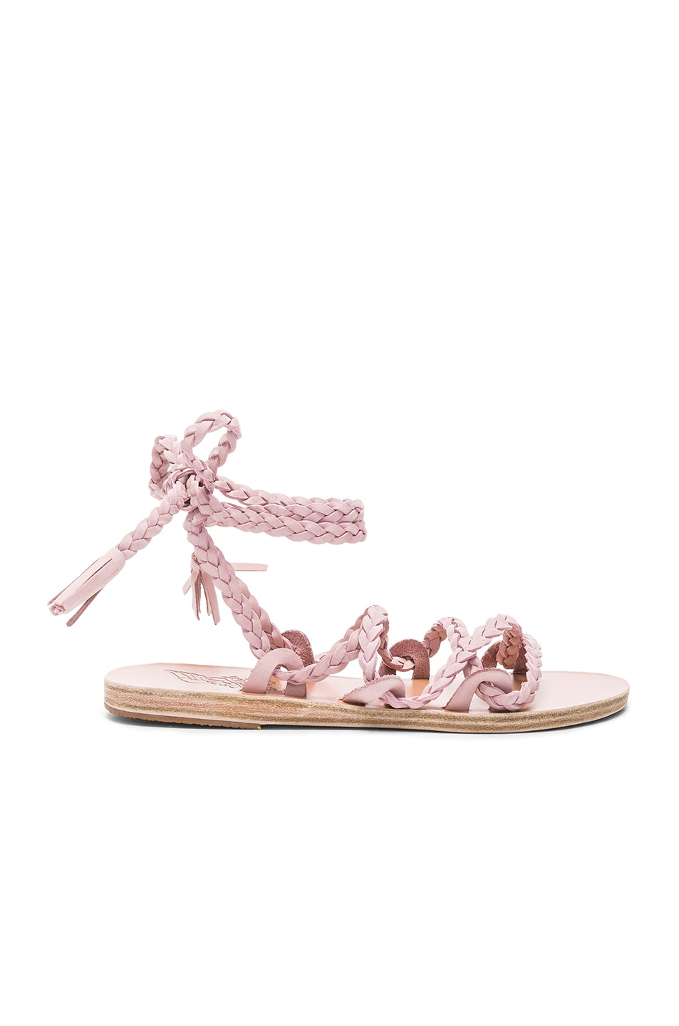 Image 1 of Ancient Greek Sandals Suede Kariatida Sandals in Pink