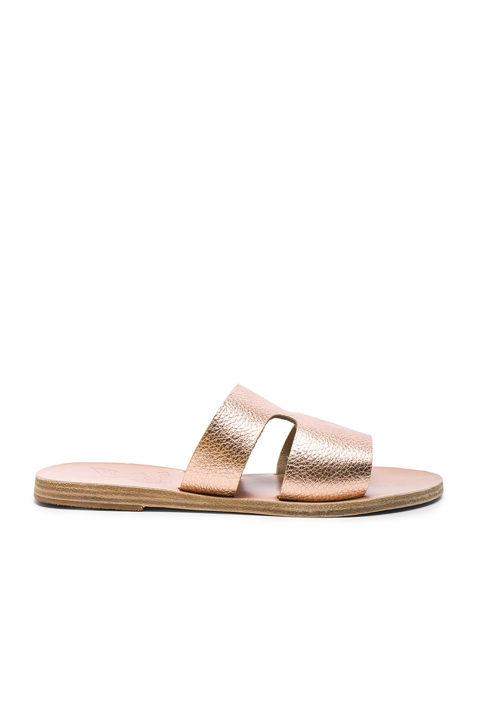 Image 1 of Ancient Greek Sandals Metallic Leather Apteros Sandals in Pink Metallic