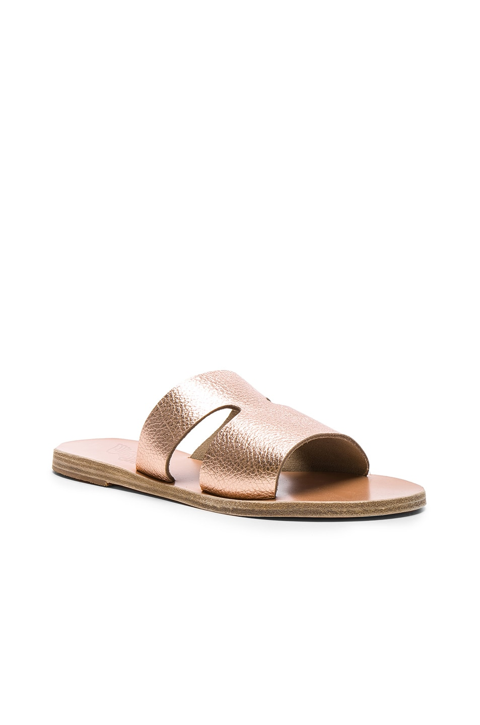 Image 2 of Ancient Greek Sandals Metallic Leather Apteros Sandals in Pink Metallic