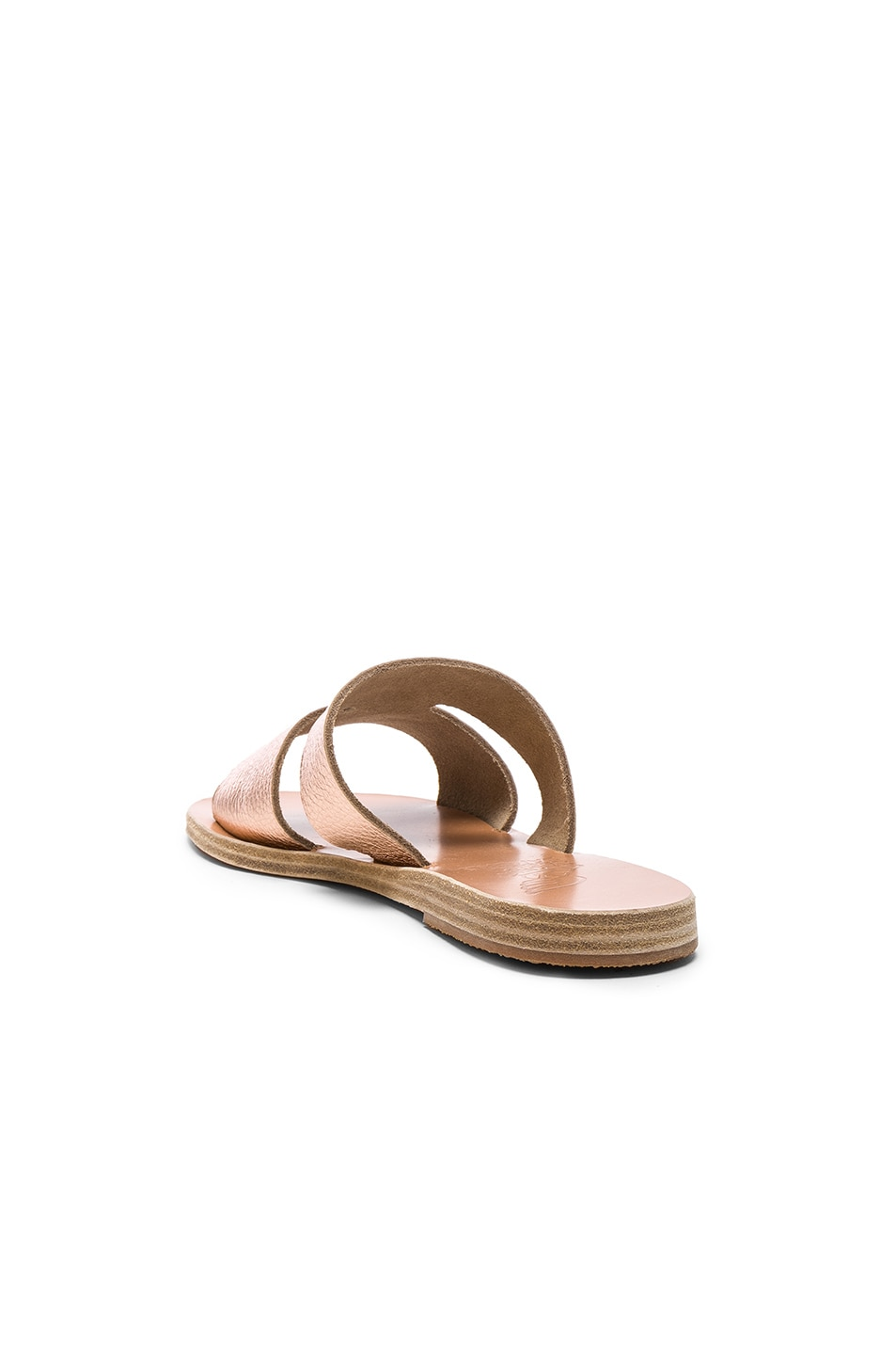 Image 3 of Ancient Greek Sandals Metallic Leather Apteros Sandals in Pink Metallic
