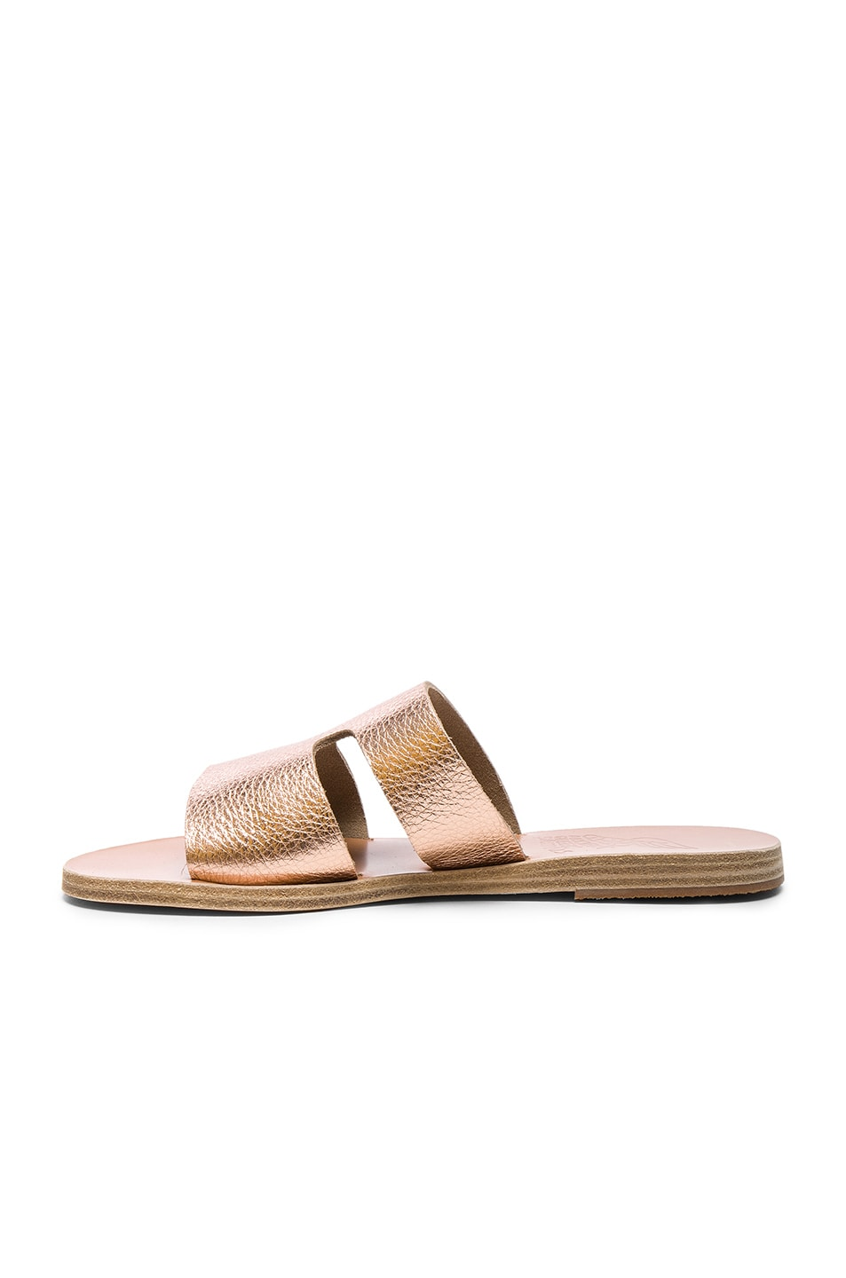 Image 5 of Ancient Greek Sandals Metallic Leather Apteros Sandals in Pink Metallic