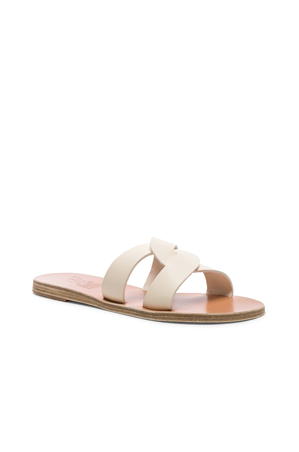 Image 2 of Ancient Greek Sandals Leather Desmos Sandals in Off White