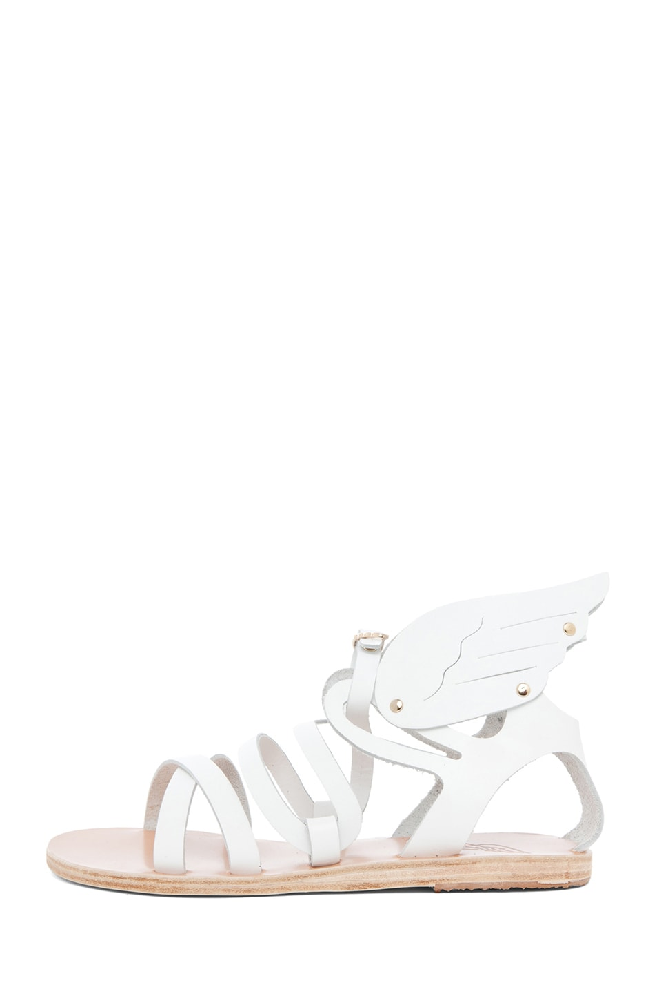 Image 1 of Ancient Greek Sandals Nephele Calfskin Leather Sandals in White