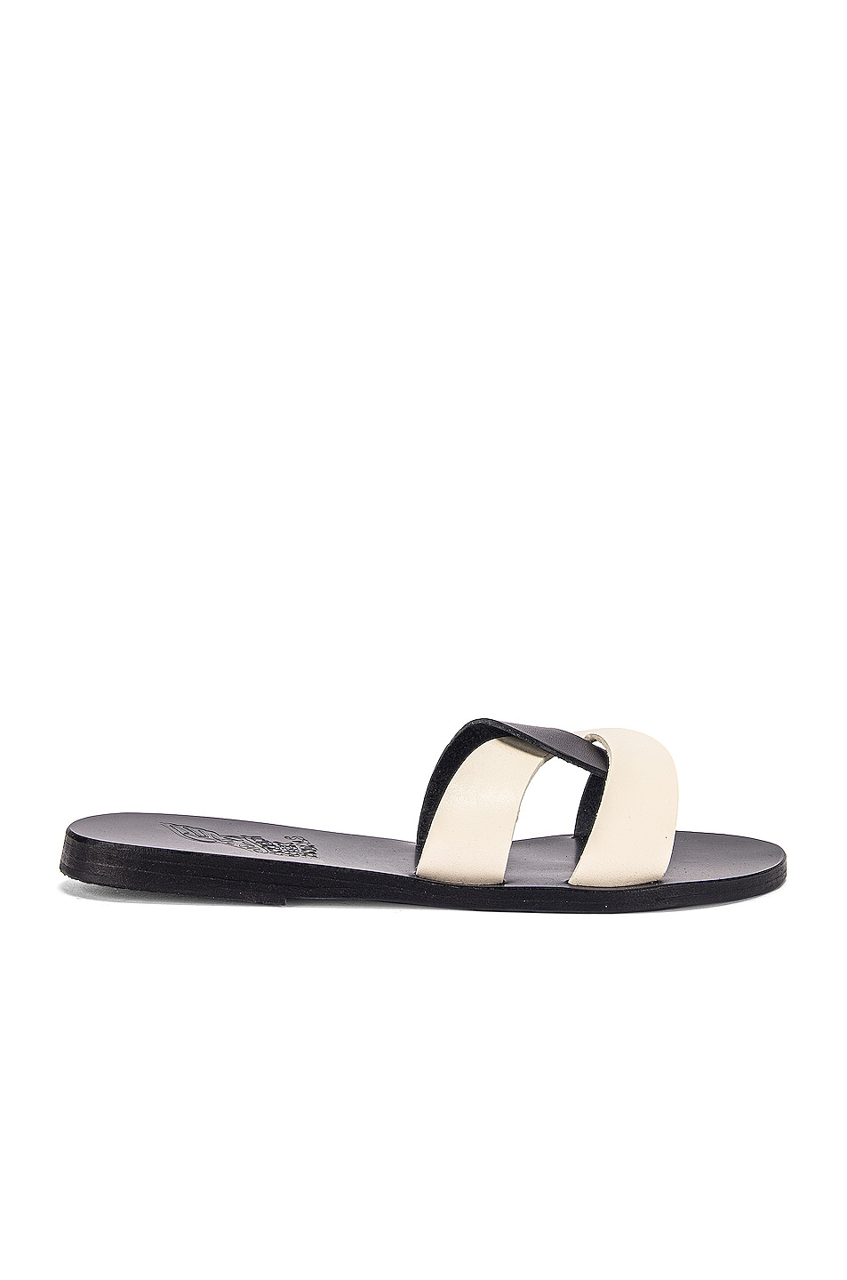 Image 1 of Ancient Greek Sandals Desmos Sandals in Black & Off White