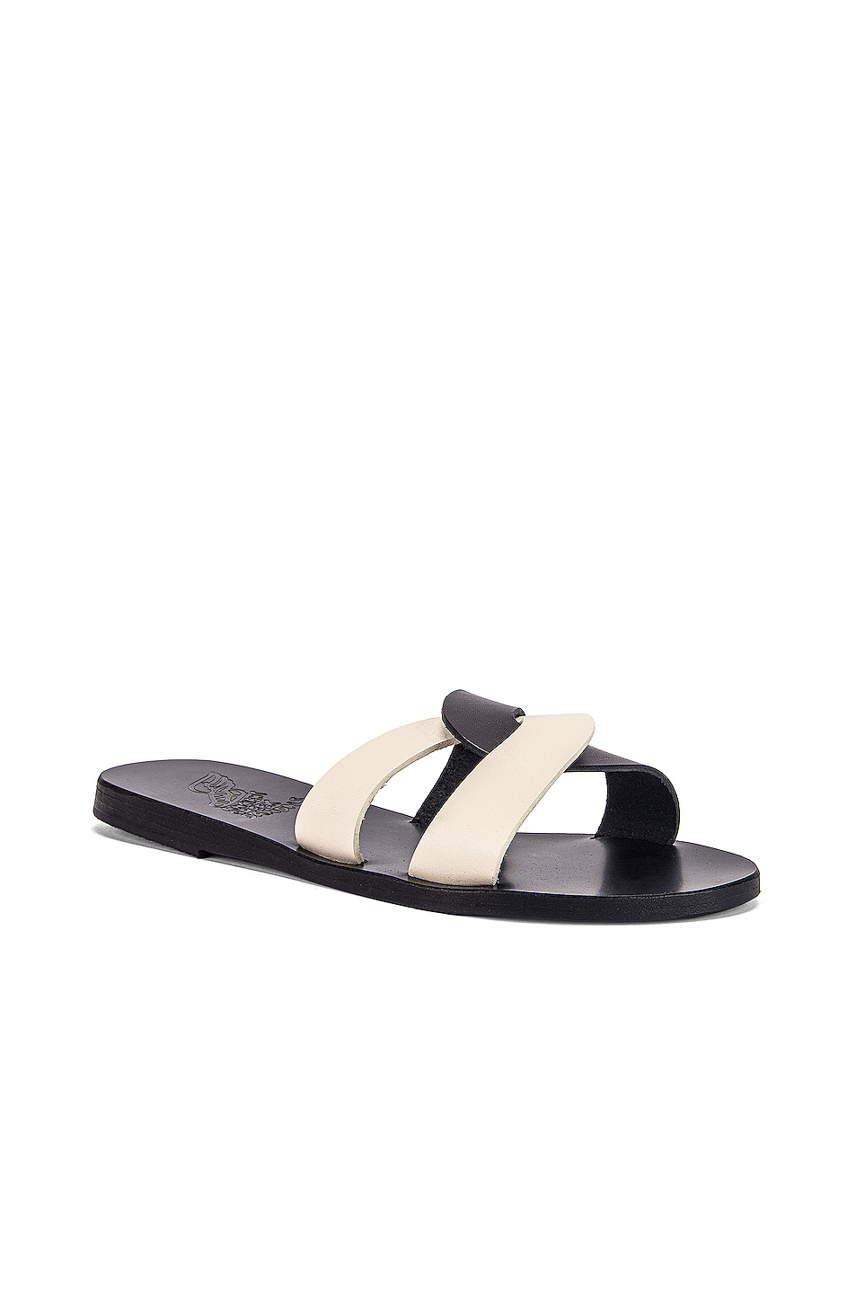 Image 2 of Ancient Greek Sandals Desmos Sandals in Black & Off White