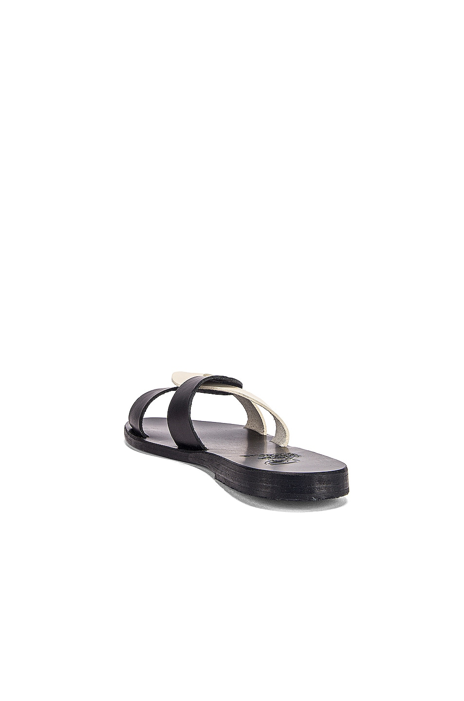 Image 3 of Ancient Greek Sandals Desmos Sandals in Black & Off White