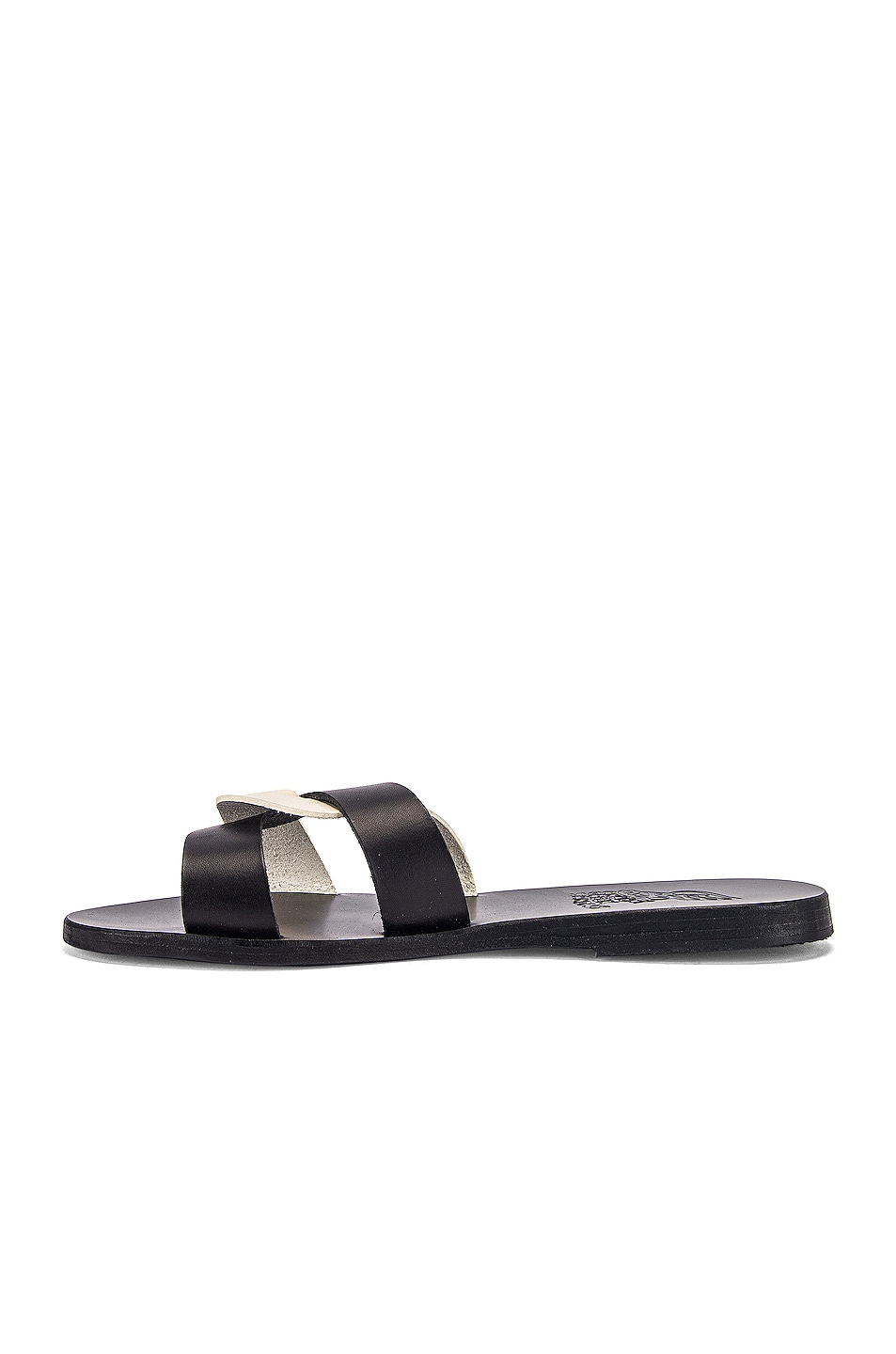 Image 5 of Ancient Greek Sandals Desmos Sandals in Black & Off White