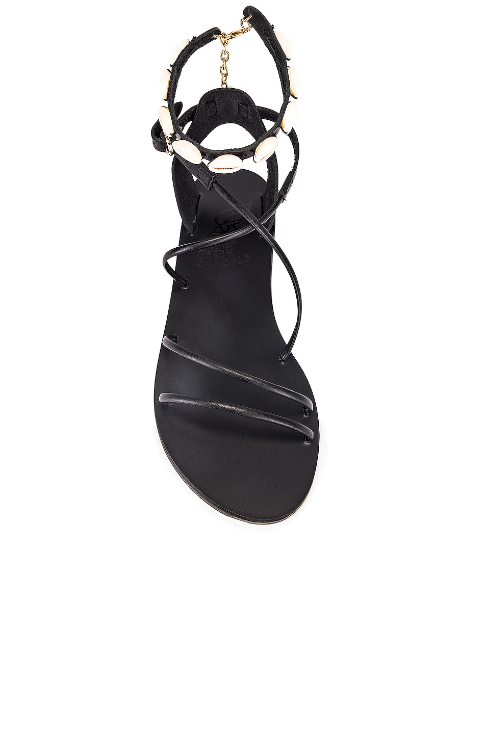 Image 4 of Ancient Greek Sandals Meloivia with Shells Sandals in Black