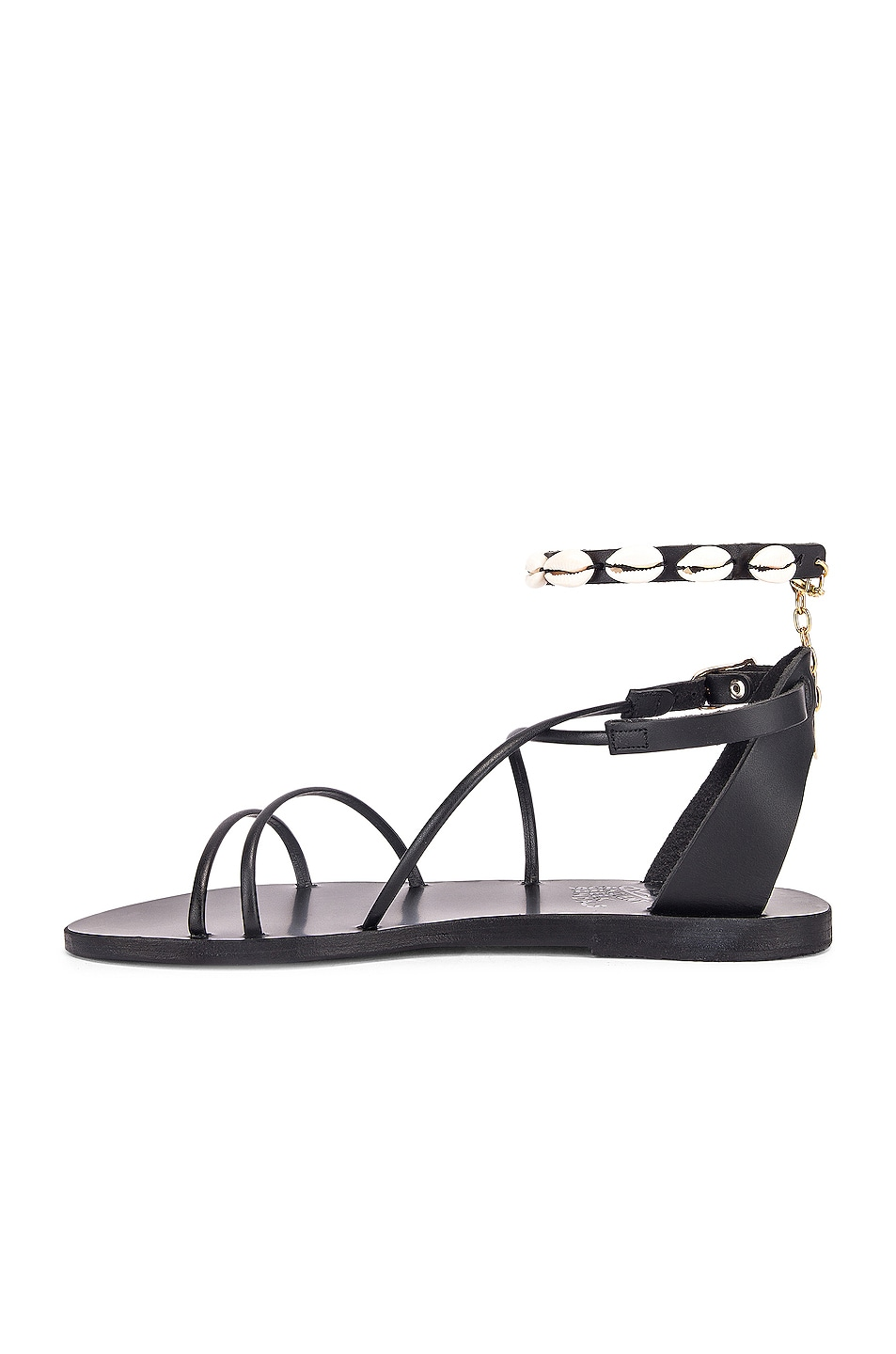 Image 5 of Ancient Greek Sandals Meloivia with Shells Sandals in Black