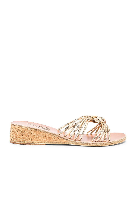 Image 1 of Ancient Greek Sandals Xanthi Wedge Sandals in Platinum