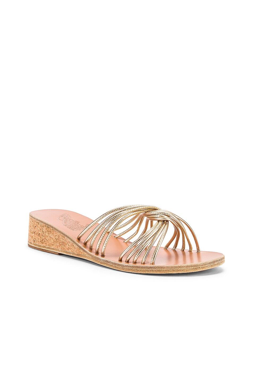Image 2 of Ancient Greek Sandals Xanthi Wedge Sandals in Platinum