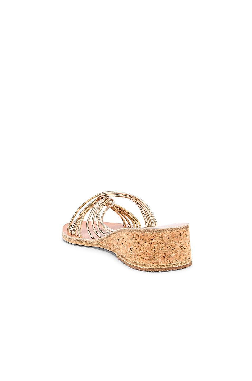 Image 3 of Ancient Greek Sandals Xanthi Wedge Sandals in Platinum
