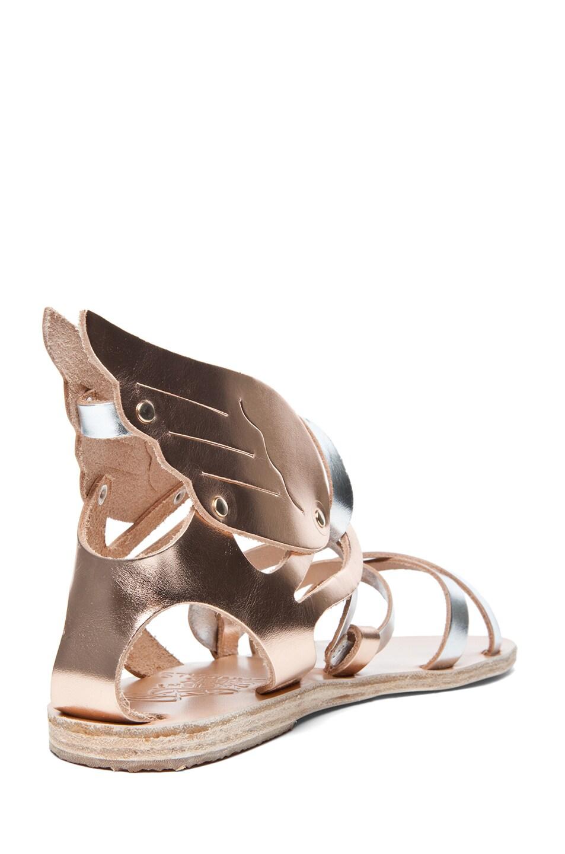 Ancient Greek Sandals Nephele Calfskin Leather Sandals in Metallic ...
