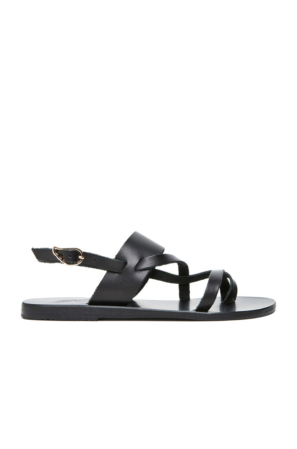 Image 1 of Ancient Greek Sandals Alethea Calfskin Leather Sandals in Black